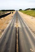 Highway construction — Stock Photo