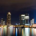 Rotterdam skyline at night — Stock Photo #31170035