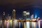 Rotterdam skyline at night — Stock Photo