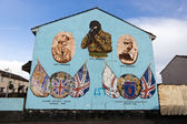Belfast mural — Stock Photo