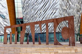 Belfast Titanic visitor attraction and a monument — Stock Photo