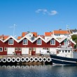Swedish fishing town — Stock Photo