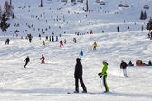 Skiing Flachau — Stock fotografie