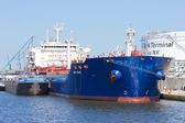 Antwerp oil tanker — Stock Photo
