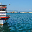Pleasure boat at sea — Stockfoto