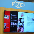 Plasma at the skype exhibition — Stock Photo