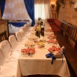 Restaurant prepared for  wedding ceremony. — Stok fotoğraf