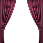 Red Velvet Theater Curtains — Stock Photo