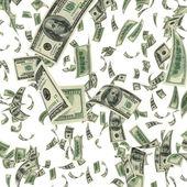 Falling Dollar Bills — Stock Photo