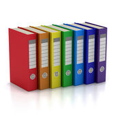Colorful File Folders — Stock Photo