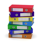 Seven Colorful File Folders — Stock Photo