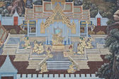 Ancient wall paintings in The Emerald Buddha temple — Stock fotografie