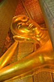 Big golden Reclining Buddha — Stock Photo