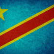 Grunge Flag of Democratic Republic of the Congo — Stock Photo
