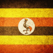 Grunge Flag of Uganda — Stock Photo