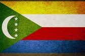 Flaga Komorów — Zdjęcie stockowe