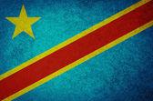 Grunge Flag of Democratic Republic of the Congo — Stock Photo