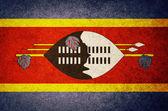 Grunge Flag of Swaziland — Stock Photo