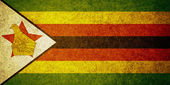 Grunge Flag of Zimbabwe — Stock Photo