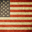 Stock Photo: Grunge Flag of United States of America