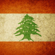 Stock Photo: Grunge Flag of Lebanon