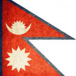 Grunge Flag of Nepal — Stock Photo