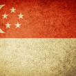 Stock Photo: Grunge Flag of Singapore