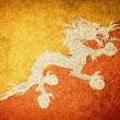 Grunge Flag of Bhutan — Stock Photo #34910625