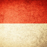 Grunge Flag of Indonesia — Stock Photo