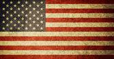 Amerika birleşik devletleri bayrağı grunge — Stok fotoğraf