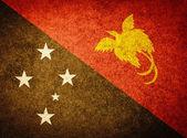 Grunge Flag of Papua New Guinea — Stock Photo