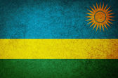 Grunge Flag of rwanda — Stock Photo