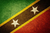 Grunge Flag of Saint Kitts and Nevis — Stock Photo