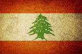 Grunge Flag of Lebanon — Stock Photo