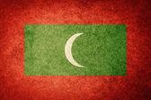 Grunge Flag of Maldives — Stock Photo