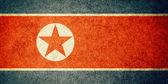 Grunge Flag of North Korea — Stock Photo