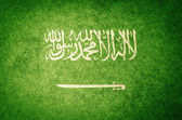 Grunge flagge saudi-arabiens — Stockfoto