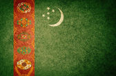 Grunge Flag of Turkmenistan — Stock Photo