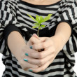 Hand with plant — Stock Photo #35037303