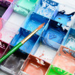 Water-color, brush and palette — Stock Photo #35037693