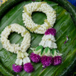 Stock Photo: Flower garlands of thai style