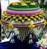 Fabric flower garlands of thai style — Foto Stock