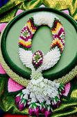 Fabric flower garlands — Stock Photo