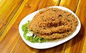 Thai style crispy fish salad traditional cuisine — Stock fotografie