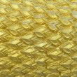 Texture sculpture of Golden Dragon scales — Stock Photo