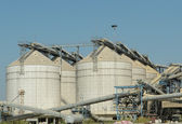 Metal silos agriculture granary — Stock Photo