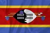 Swaziland flag — Stock Photo