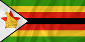 Zimbabwe flag — Stock Photo
