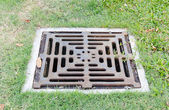 Drain on filed — Stockfoto