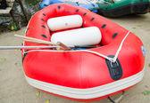 充气船 — 图库照片